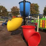 Inclusive children's playground in Vlae, Delfina square